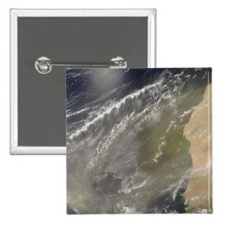 Dust storm off West Africa 2 15 Cm Square Badge
