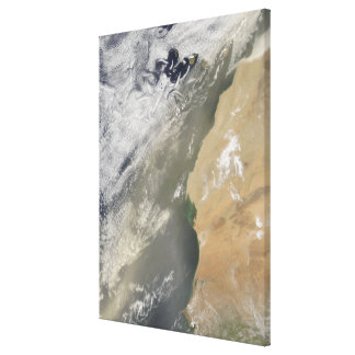 Dust storm off West Africa 2 Canvas Print