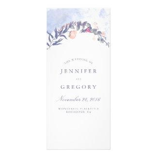 Dusty Blue and Blush Wedding Programs Rack Card