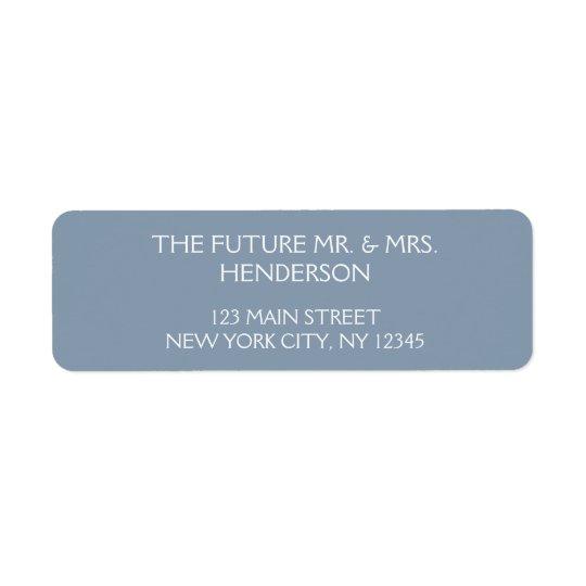 Dusty Blue Wedding Return Address