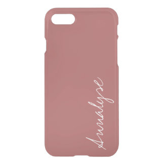 Dusty Cedar Warm Rose Pink Solid Color Custom iPhone 7 Case