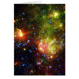 Dusty death of a massive star greeting card