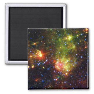 Dusty death of a massive star square magnet