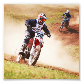 Dusty Dirtbike Race Photographic Print