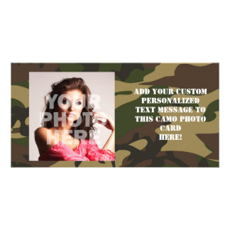 Dusty Green Camo Photo Card Template