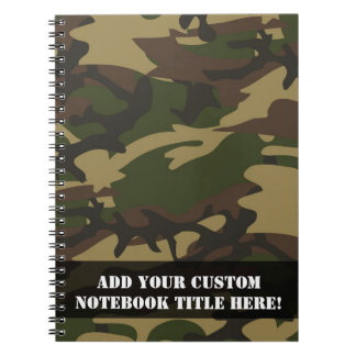 Dusty Green Camo Spiral Notebook