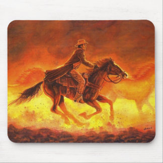 Dusty Morning Roundup Mouse Pad