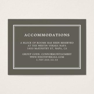 Dusty Olive Wedding Hotel Accommodation Cards