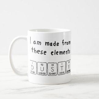 Dusty periodic table name mug