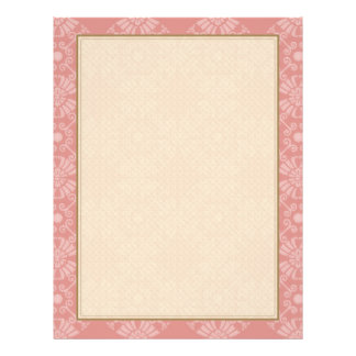 Dusty Pink Floral Pattern 21.5 Cm X 28 Cm Flyer