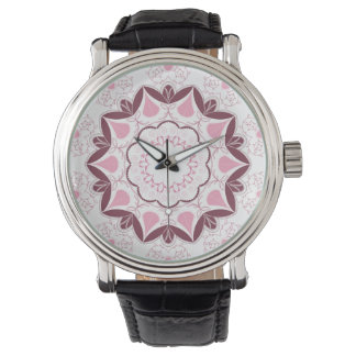 Dusty Pink Mandala Print Customisable Initial Watch