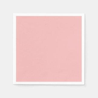 Dusty Pink Peach Vintage Apricot 2015 Color Trend Disposable Serviette