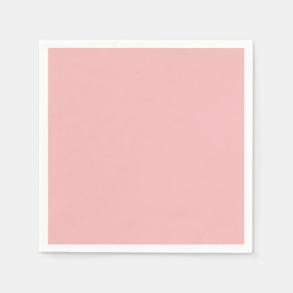 Dusty Pink Peach Vintage Apricot 2015 Color Trend Paper Napkins