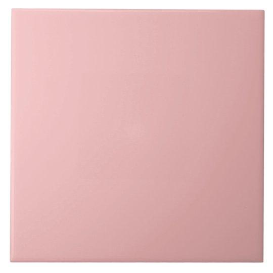 Dusty Pink Peach Vintage Apricot 2015 Colour Trend Large Square Tile
