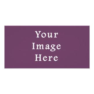 Dusty Plum Purple Color Trend Blank Template Custom Photo Card