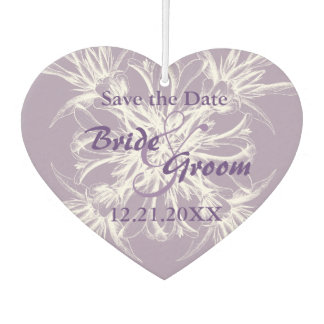 Dusty Purple Floral Wedding Save the Date