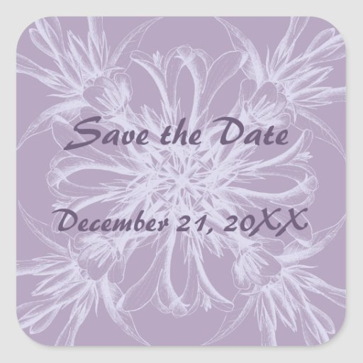 Dusty Purple Save the Date Stickers