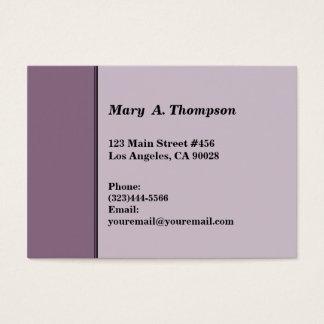 Dusty Purple side border Business Card