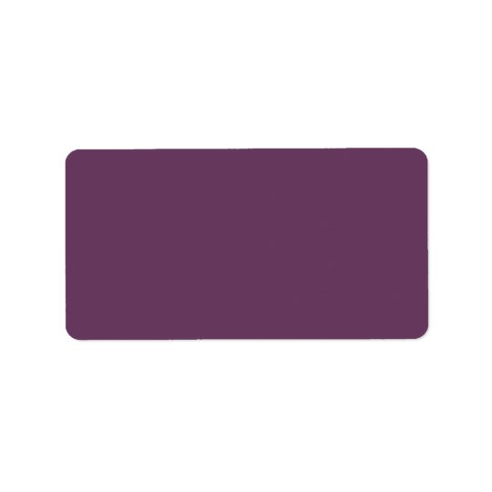 Dusty purple Trend Colour Customised Template Address Label