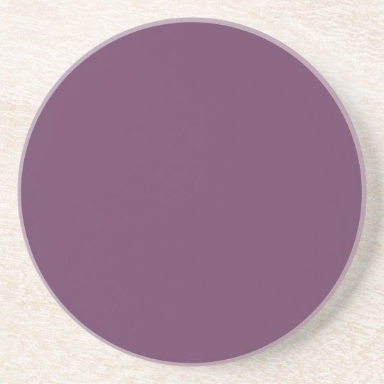 Dusty purple Trend Colour Customised Template Coaster