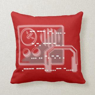 Dusty Red Morse code design cushion 41cmx41cm