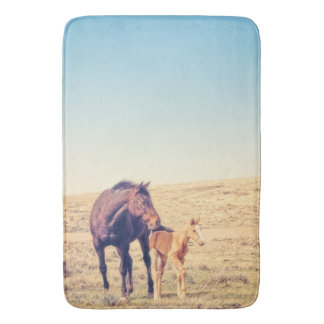 Dusty Rose Bath Mat Western Horse