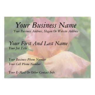 Dusty Rose Colored Bearded Iris Business Card Template
