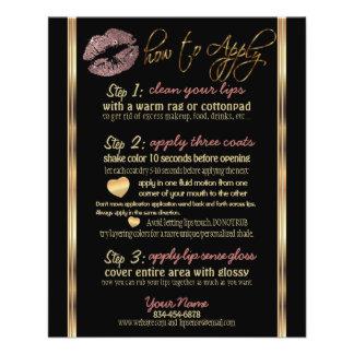 Dusty Rose Gold Glitter Lip Instructions 11.5 Cm X 14 Cm Flyer
