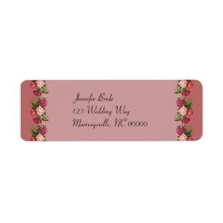 Dusty Rose Return Address Label