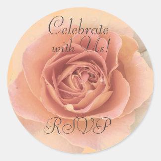 Dusty Rose RSVP Sticker