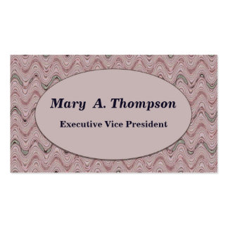 Dusty Rose wavy lines Double-Sided Standard Business Cards (Pack Of 100)