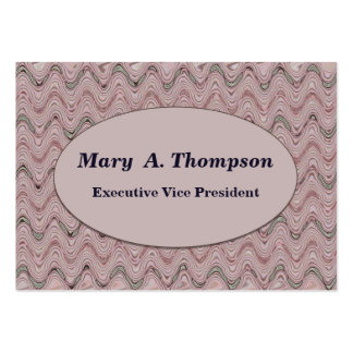 Dusty Rose wavy lines Large Business Cards (Pack Of 100)
