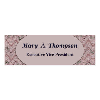 Dusty Rose wavy lines Double-Sided Mini Business Cards (Pack Of 20)
