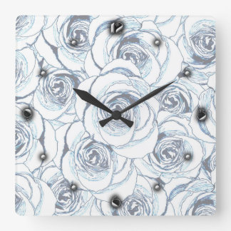 Dusty Roses Wall Clock