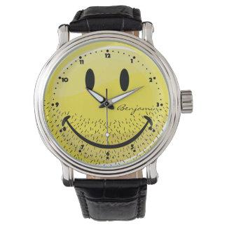 Dusty Ruff Bearded Smiley Face Wristwatch