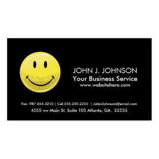 Dusty Ruff Bearded Smiley Face Pack Of Standard Business Cards