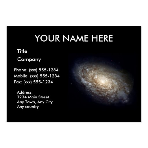 DUSTY SPIRAL GALAXY ~ BUSINESS CARD TEMPLATES