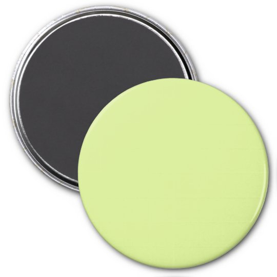 Dusty Yellow Vintage Pale Green 2015 Colour Trend 7.5 Cm Round Magnet