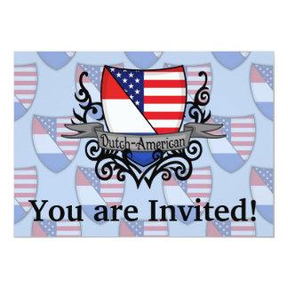 Dutch-American Shield Flag 13 Cm X 18 Cm Invitation Card