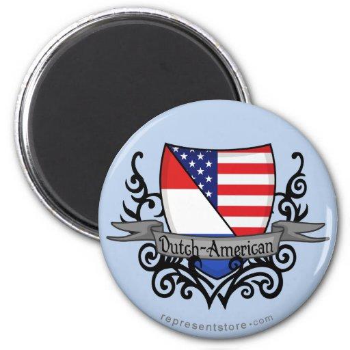 Dutch-American Shield Flag Magnets
