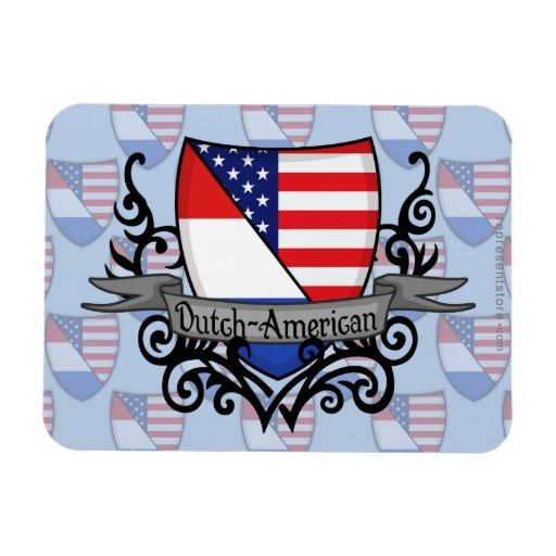 Dutch-American Shield Flag Vinyl Magnets