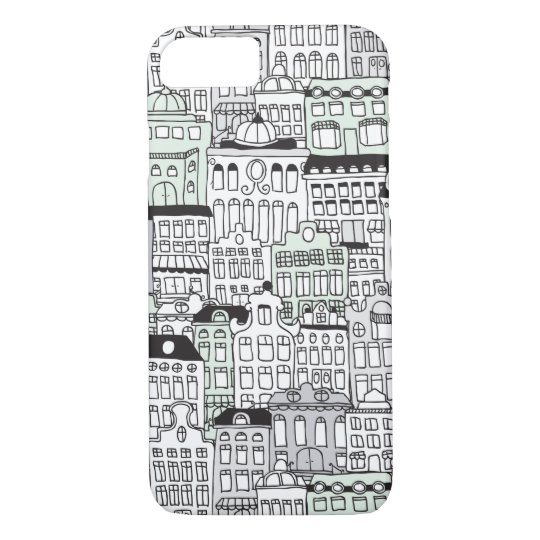 Dutch amsterdam illustration home pattern iPhone 7 case