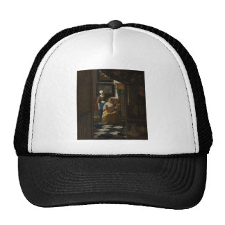 Dutch Artist Vermeer Painting - Love Letter Cap