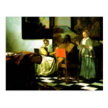 Dutch Artist Vermeer Painting The Concert Postcard