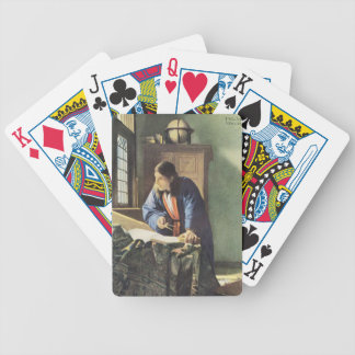 Dutch Artist Vermeer Painting The Geographer Bicycle Playing Cards