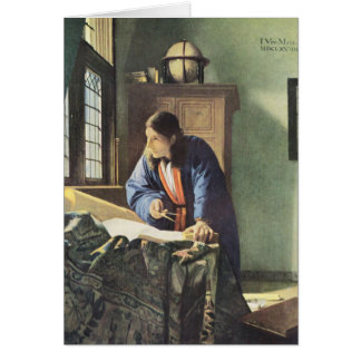 Dutch Artist Vermeer Painting The Geographer Card