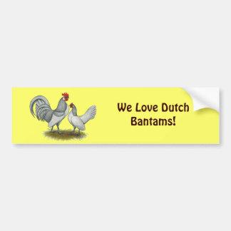 Dutch Bantam:  Self Blue Bumper Sticker