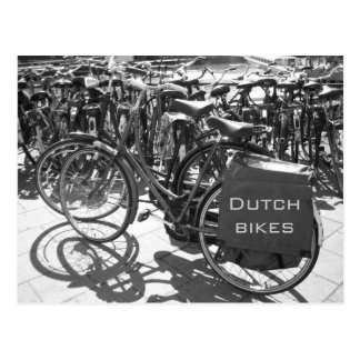 Dutch Bikes photo postcard