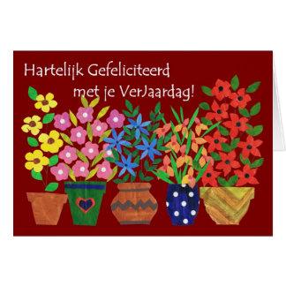 Dutch Birthday Card - Flower Power!
