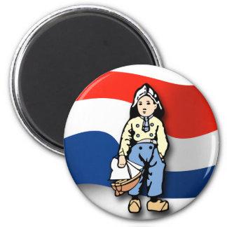 Dutch Boy 6 Cm Round Magnet